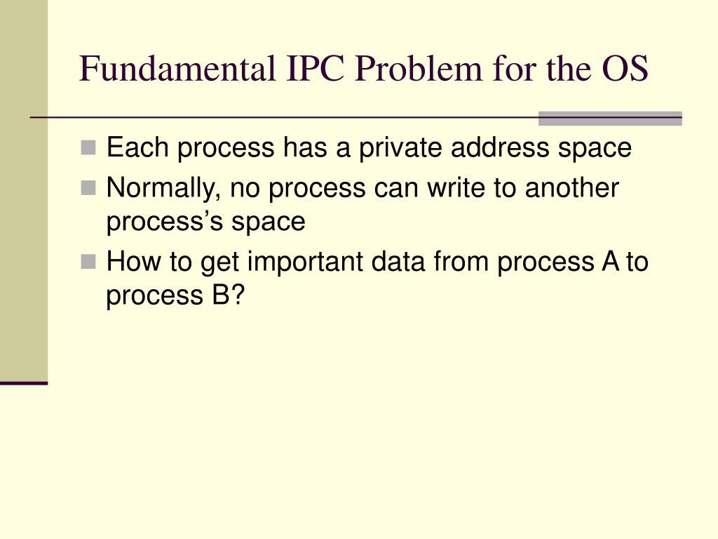 Fundamental IPC Problem for the OS