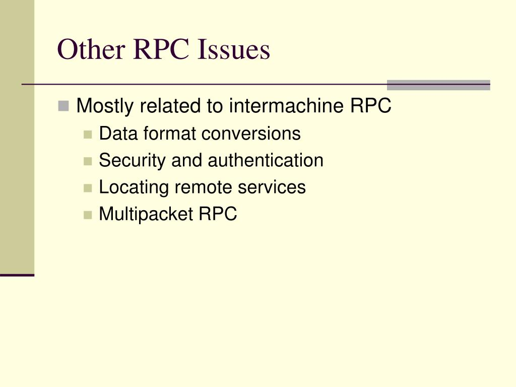 Other RPC Issues