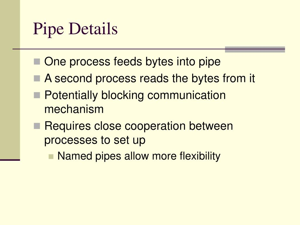 Pipe Details