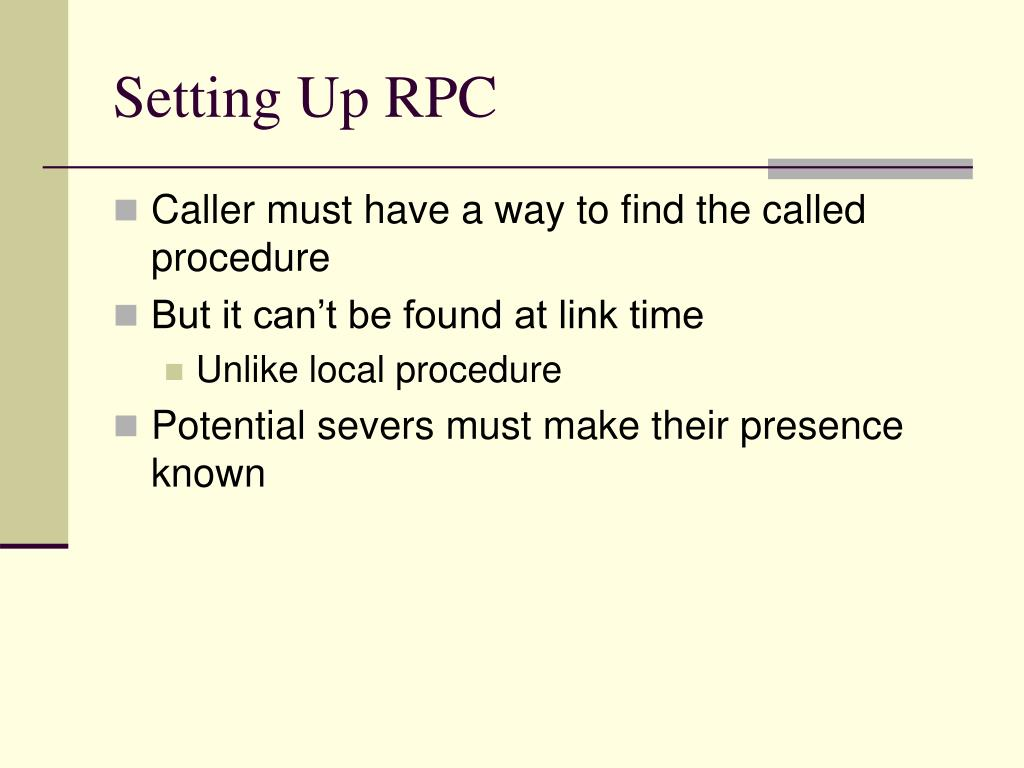 Setting Up RPC
