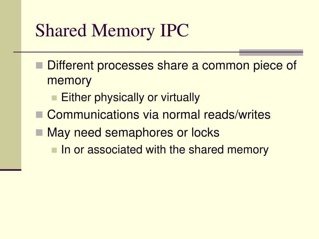Shared Memory IPC