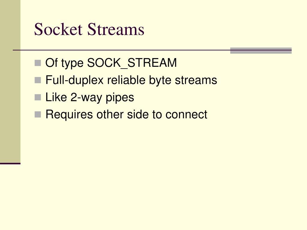 Socket Streams