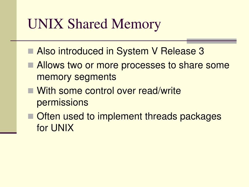 UNIX Shared Memory