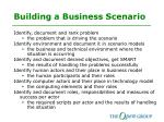 building a business scenario