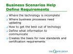 business scenarios help define requirements