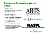 business scenarios we ve done