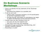 on business scenario workshops