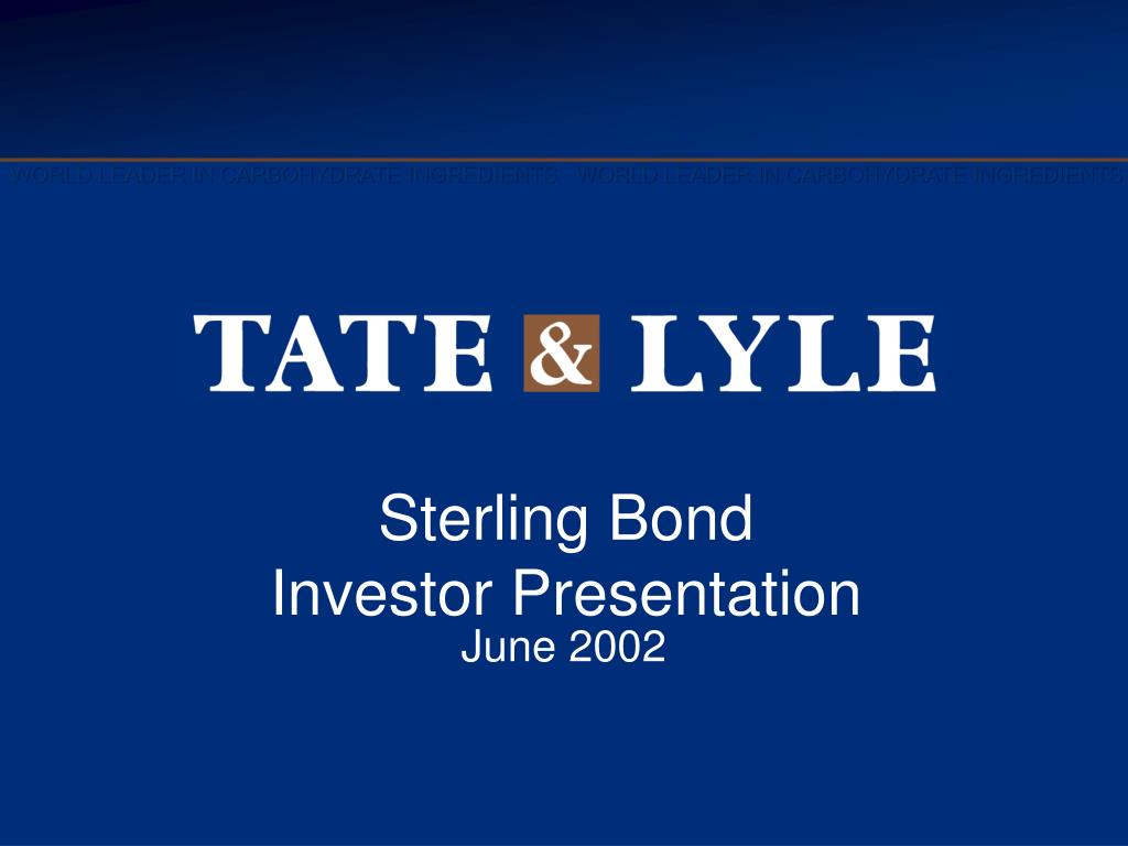 sterling bond investor presentation l.