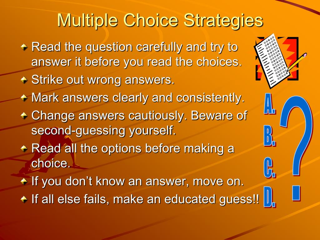 Multiple Choice Strategies