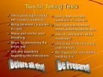 tips for taking tests