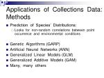 applications of collections data methods
