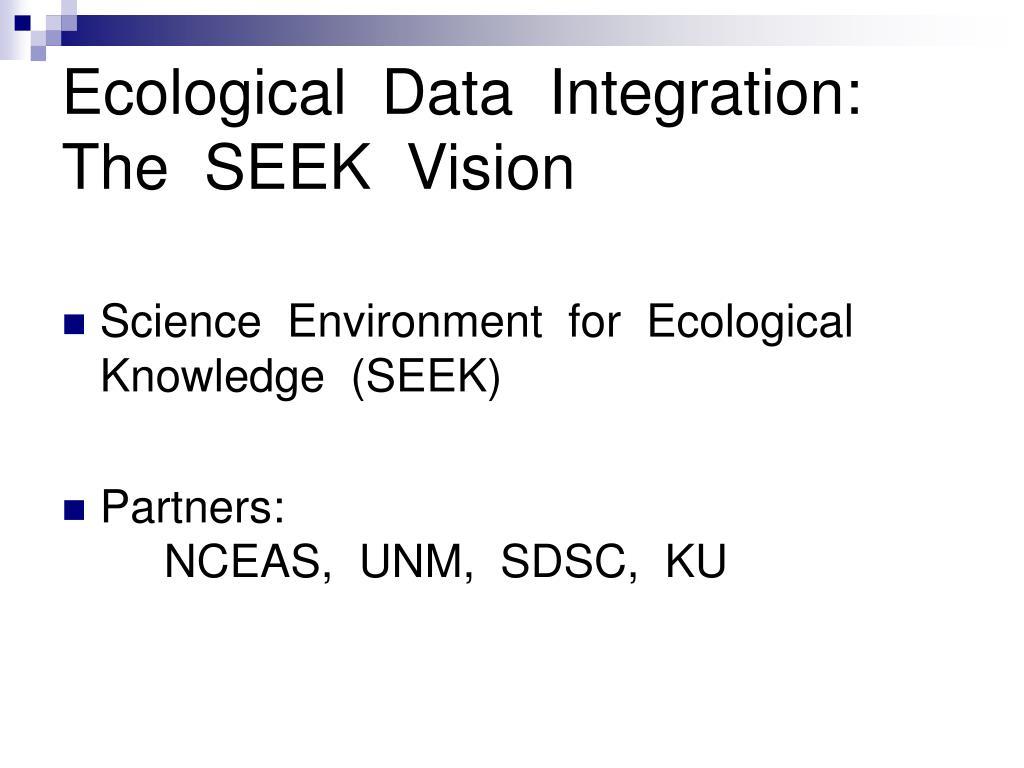 Ecological  Data  Integration: