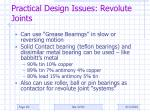 practical design issues revolute joints20