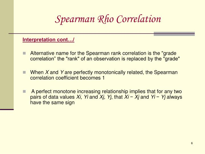 Ppt Spearman Rho Correlation Powerpoint Presentation Id506101