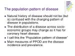 the population pattern of disease