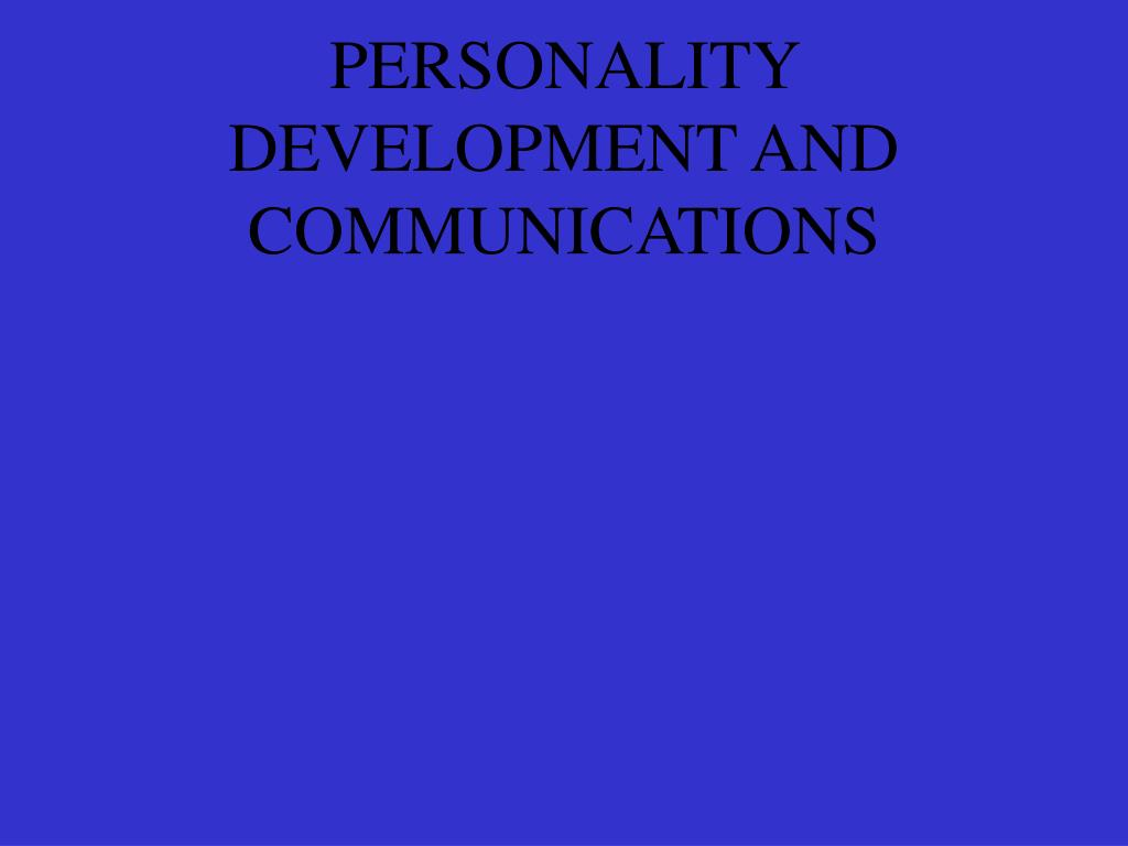 personality development and communications l.