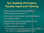 our guiding principles faculty input and training