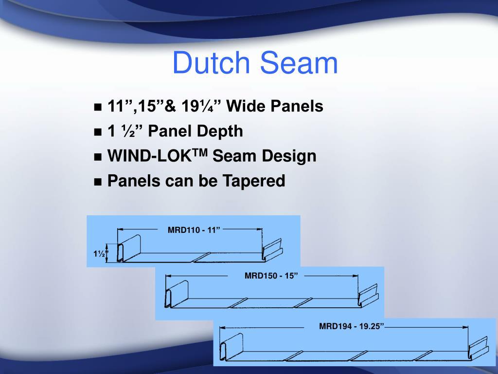 Dutch Seam