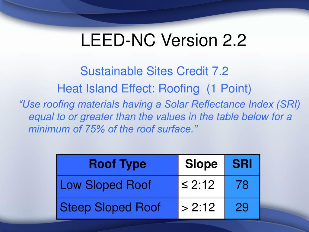 LEED-NC Version 2.2