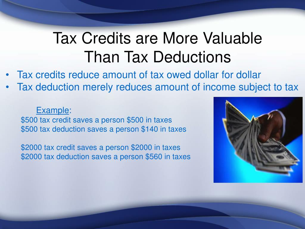 Tax Credits are More Valuable                                Than Tax Deductions