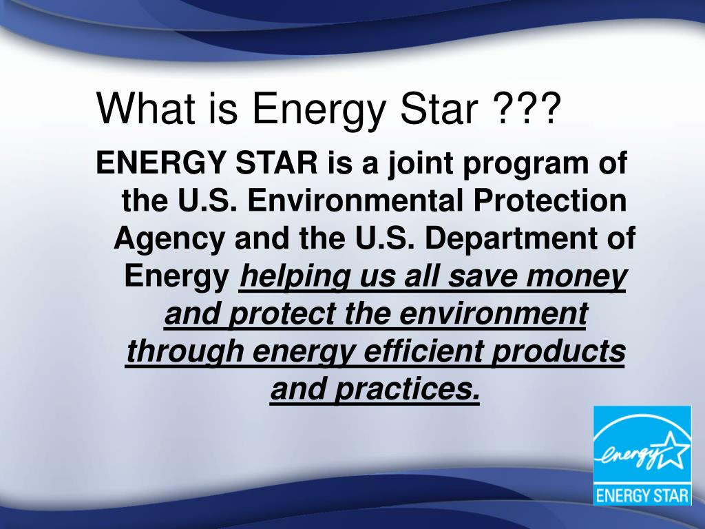 What is Energy Star ???