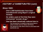 history of barbiturates cont
