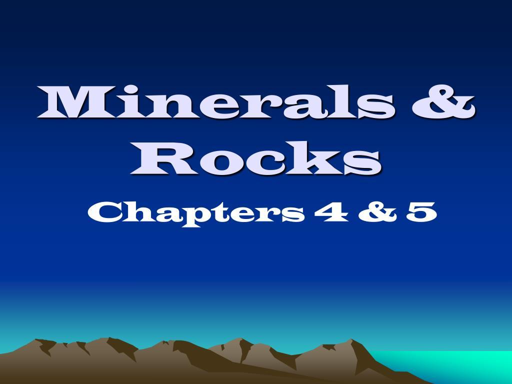 minerals rocks l.