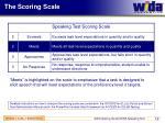 the scoring scale