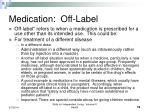 medication off label