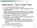 medications how to take them
