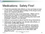 medications safety first