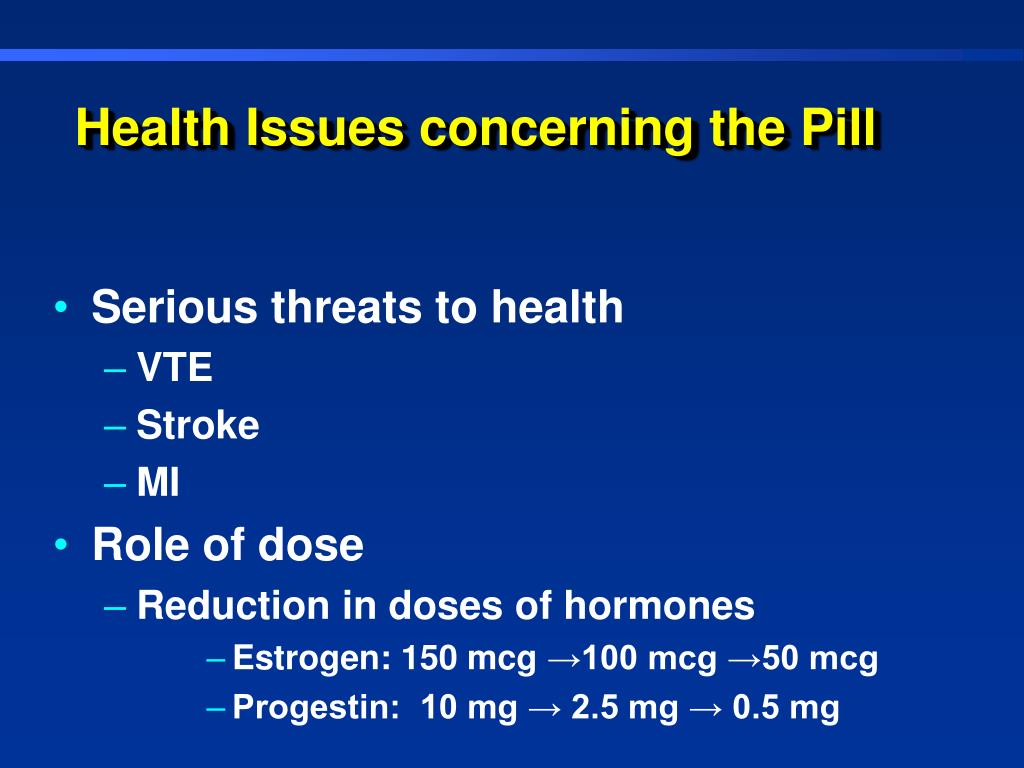 Health Issues concerning the Pill