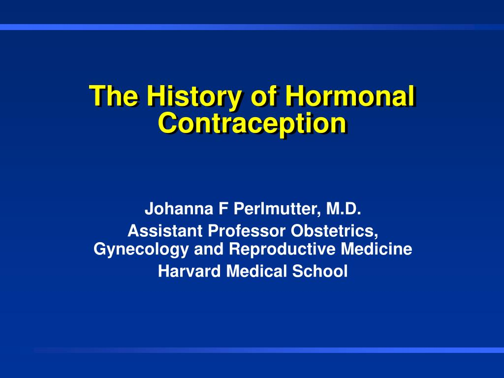 the history of hormonal contraception l.