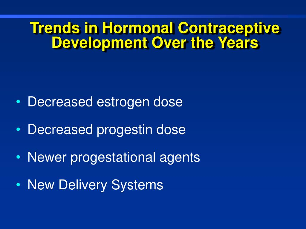 Trends in Hormonal Contraceptive Development Over the Years