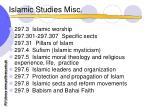 islamic studies misc10