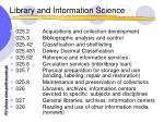 library and information science42
