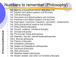 numbers to remember philosophy19