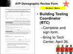 ayp demographic review form