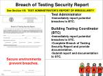 breach of testing security report