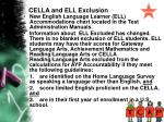 cella and ell exclusion