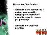 document verification