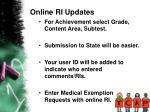 online ri updates