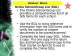 online school group list sgl