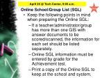 online school group list sgl25