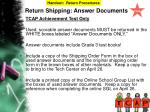 return shipping answer documents