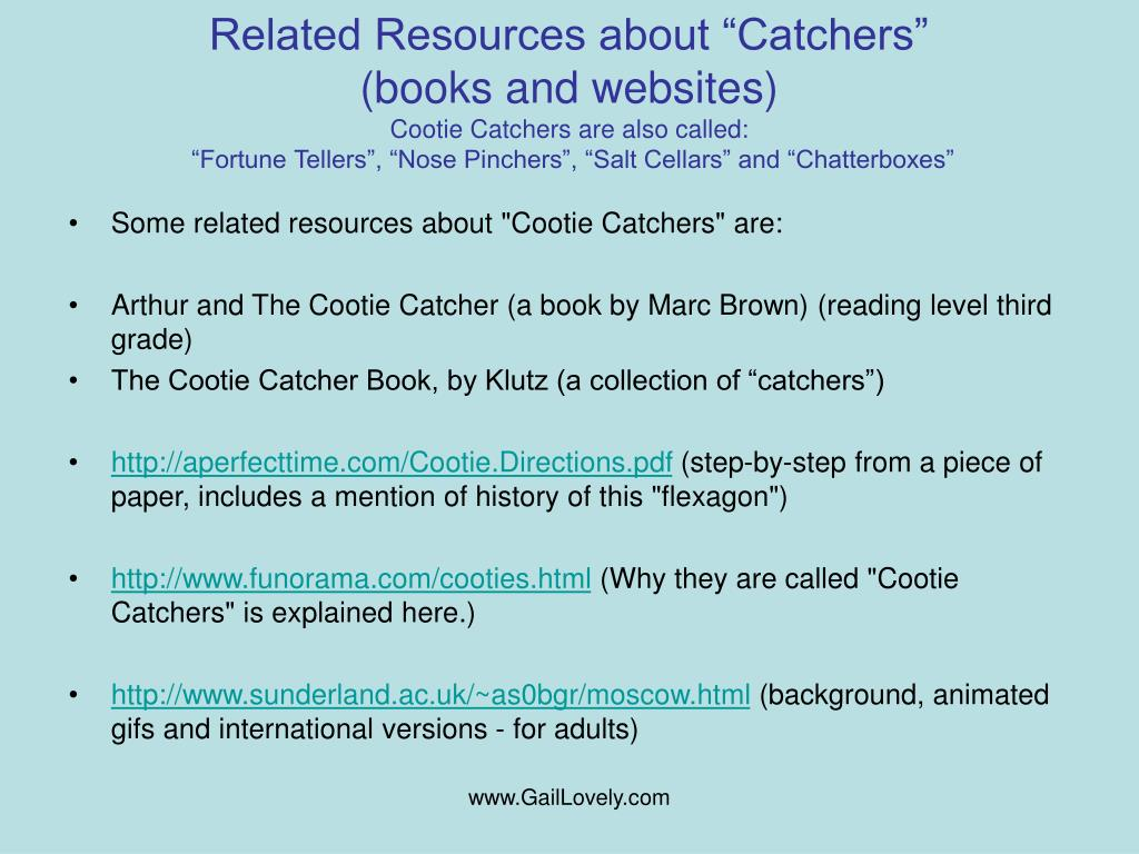 """Related Resources about """"Catchers"""""""