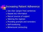 increasing patient adherence