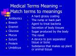 medical terms meaning match terms to meanings
