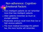 non adherence cognitive emotional factors39