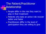 the patient practitioner relationship